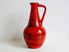 Mid century Bay keramik ceramic handled vase West Germany WGP