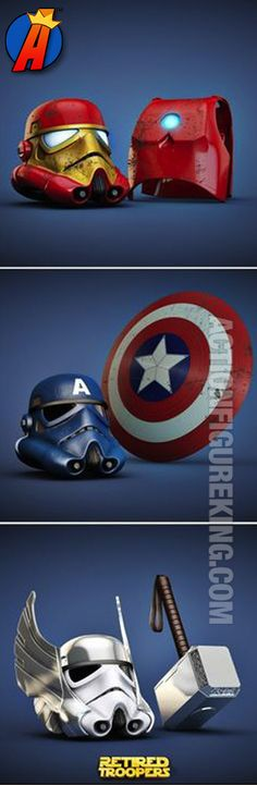 Who'd be interested in this? Star Wars meets the Avengers. Using the good guys for bad! #avengers #starwars #mashup