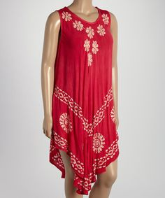 8948f6c7cc Love this Fuchsia & White Floral Dress - Plus by Highness NYC on #zulily