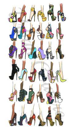 "jerroncouture: ""Urban Couture Shoe Designs ♥ """