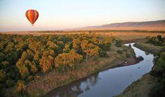 Go on a hot air balloon safari in Kenya