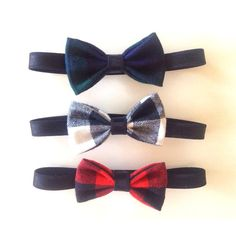 Plaid Baby  Toddler Bow Ties by petiteprairie on Etsy