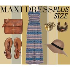 Maxi Dress entry by vill-ain on Polyvore featuring polyvore, fashion, style, maurices, American Eagle Outfitters, DANNIJO, River Island, maxidress and plussize