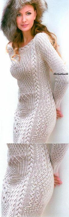 Спицы.Платье.