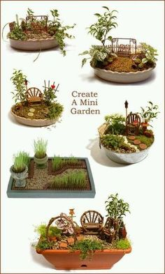 Fairy garden – layout ideas. Great activity for a family reunion. Fun for young and old. Summer crafting at grandmas house for all the grandkids.. plant some memories weave stories to make them dream