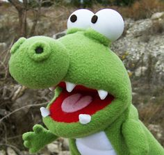 Alan the Alligator - a struggling hand-puppet from New Zealand.