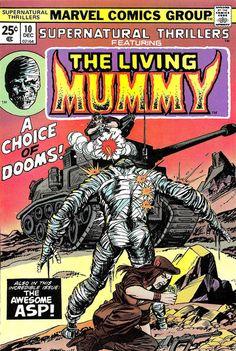 Vintage Comic - Supernatural Thrillers Pencils: Gil Kane Inks: Al Milgrom Marvel Marvel Comics, Ec Comics, Horror Comics, Marvel Comic Books, Comic Books Art, Comic Art, Creepy Comics, Horror Art, Book Art