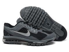 Great Nike Air Max 2013 Netty Correr Zapatos Negro Gris ENV��O GRATIS POR DHL precio de