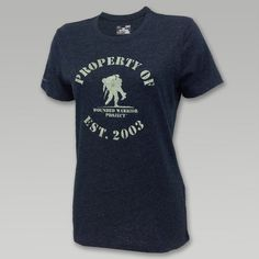 Under Armour Womens Wounded Warrior Property Of T- Shirt (Black)