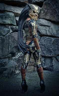 Female Predator costume that won first prize in Europe's Ropecon XX.