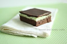 chocolate mint browines-- perfect with a gluten-free brownie mix!