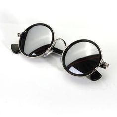 Men Women Vintage Retro Round Golden Metal Mirrored Sunglasses is hot sale at NewChic, Buy cool sunglasses now. Round Metal Sunglasses, Retro Sunglasses, Mirrored Sunglasses, Sunglasses Women, Summer Sunglasses, White Sunglasses, Trends 2018, Leorio Hxh, Giorgio Armani