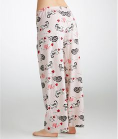HUE Knitting Kitty Pajama Pants Plus Size Sleepwear PJP42111 at BareNecessities.com