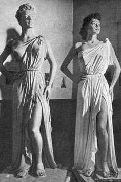 "Ava Gardner and her statue as Venus de Milo for One Touch of Venus by the sculptor Joseph Nicolosi who said: ""They don't make Miss Gardners every day."" - Photo by Jack Albin"