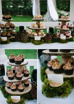 Swashbuckle The Aisle: Enchanted Forest Themed Wedding, never thought of adding the moss to it, so cute to have hanging in trees for an outdoor wedding or reception, very woodland rustic. Description from pinterest.com. I searched for this on bing.com/images