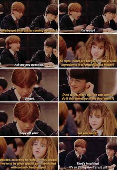 And when he was totally insulted because McGonagall didn't trust him.