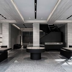 Van Duysen created a greyscale interior for American fashion design Alexander Wang's store inside a former post office in London's Mayfair.