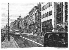 Theatreland at the Strand, London - drawings and paintings by Stephen Wiltshire MBE