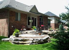 raised patio built in planter stairs entryways - Raised Patio Ideas