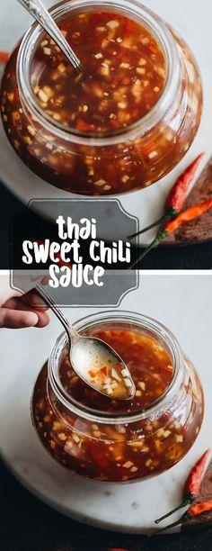 Homemade Sweet Thai Chili Sauce.