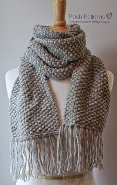 Free Knitting Pattern Seed Stitch Scarf                                                                                                                                                                                 More
