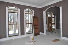 miscellaneous - Benjamin Moore - Fairview Taupe - formal living room walnut windows Formal living room in our new house
