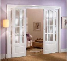 Love the way these doors overlap but still look like a French door!