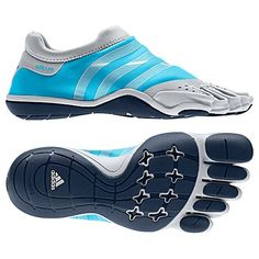 Women's adidas Sport Training adiPURE Trainer Shoes Intense Blue Silver V22299   ooooo I want these!