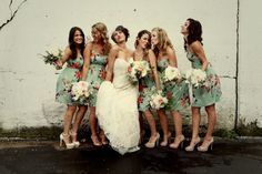Fashion-Floral Printed Bridesmaid Dresses Trends