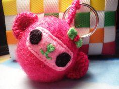 Porta-chaves Macaca rosa
