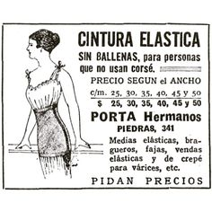 Cintura elástica #1920 #argentina #buenosaires #ads #vintage