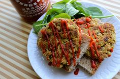 Vegan Jalapeno Chickpea Burgers, With   Oats, Carrot, Onion, Flaxseed & Garlic.