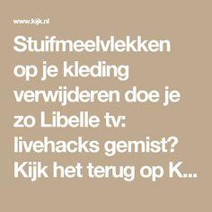 Stuifmeelvlekken op je kleding verwijderen doe je zo Libelle tv: livehacks gemist? Kijk het terug op Kijk.nl