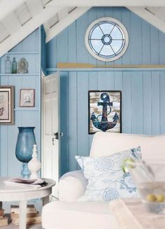 Anchor with Color Splashes Chic Wall Decor – Echo and Ben Design Shop