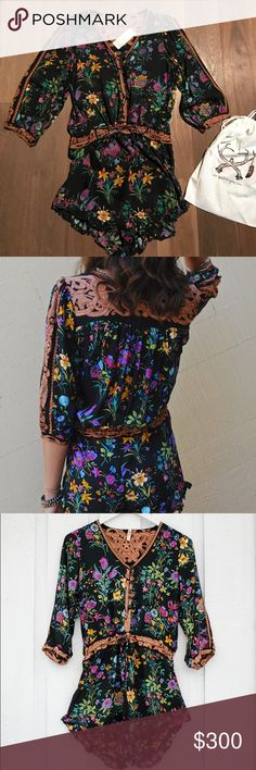 Spell gypsy corrective Queen romper black XS w/bag **NO TRADE please donor ask me about it** It romper, sold out absolutely beautiful from spell. XS NWT, dust bag included. Spell & The Gypsy Collective Dresses Mini
