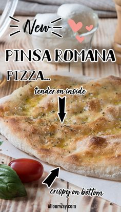 An oblong flatbread invented by an Italian pizza maker. A delicious crusty base dough for all pinse. It even comes in a no-gluten variety. Easy to digest and so tasty for all of your favorite toppings. #pinsa #pinsaromana #pizzacrust #crispypizza, #Romanpizza Pizza Recipes, Baking Recipes, Easy Recipes, Easy Meals, Romans Pizza, Pizza Maker, Everyday Italian, Budget Dinners, Pizza Sandwich