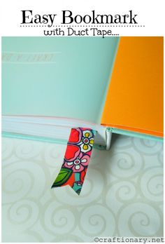 DIY Duct tape ideas (Make simple crafts) - Craftionary Duct Tape Projects, Duck Tape Crafts, Easy Diy Crafts, Diy Crafts For Kids, Simple Crafts, Duct Tape Bookmarks, Cute Office Supplies, Bookmark Craft, Tape Art
