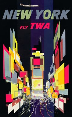 vintage everyday: The Golden Age of Air Travel: Beautiful Vintage Airline Posters from between the 1940s and 1970s