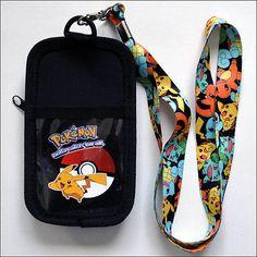 Pokemon Go Pokeball Pikachu Lanyard Necklace ID Holder Coin Purse Bag Phone Case