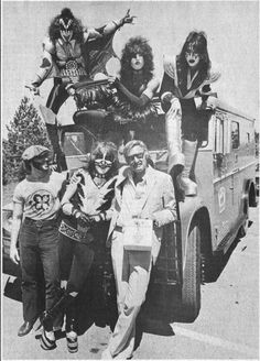 Stan Lee and Marvel Comics meet KISS, 1978.