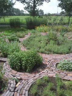 herb garden circles