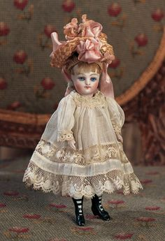 View Catalog Item - Theriault's Antique Doll Auctions - german with black boots and hat