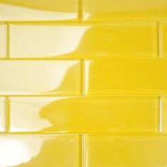 Ivy Hill Tile Contempo Yellow 2 in. x 8 in. x Polished Glass Floor and Wall Tile pieces 4 sq.