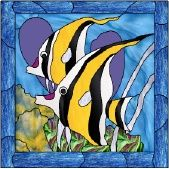 stained glass tropical fish patterns free online   Stained Glass Pattern Lovely Day in the Neighborhood