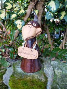 Zaunhocker Rabe Vogel Wandervogel  von Terra-Cottage auf DaWanda.com