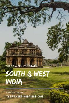 Three week itinerary for south and west India, including Mumbai, Goa, Hampi, and Bangalore. #Travel #India