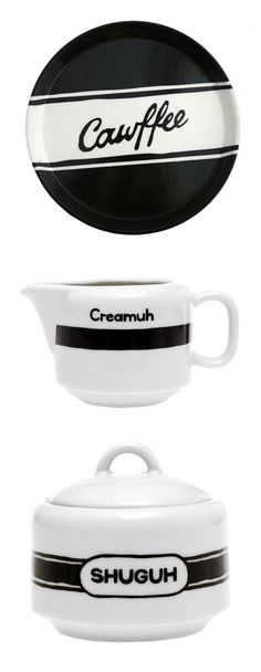 New York Accent Coffee Set - this is hilarious