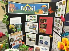 Brazil display for Thinking Day 2016 Girl Scout Swap, Girl Scout Troop, Brazil Geography, Mini Coffee Cups, Culture Day, World Thinking Day, Brownie Girl Scouts, Cultural Studies, International Day