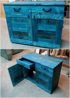 Wood Pallet Table Cabinet