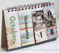 Perpetual Flip Calendar with tutorial. #silhouettedesignteam...I made one of these in college!!! I should do it again...